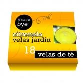 Velas de chá com citronela, 18 ud