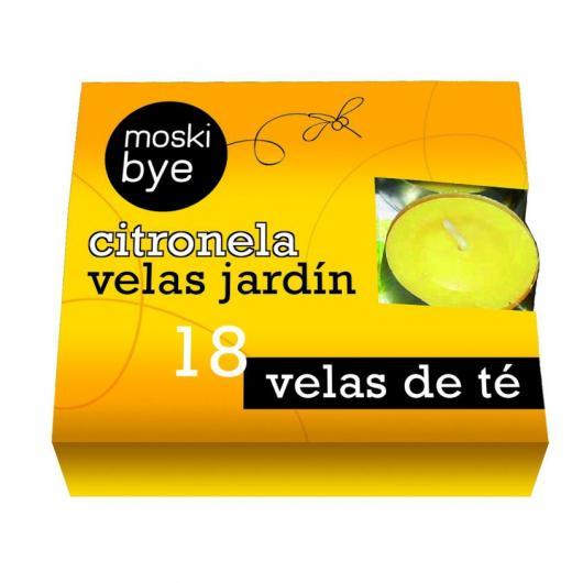 Velas de té con citronela, 18 ud