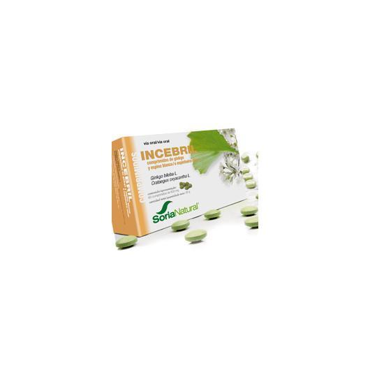Incebril ginkgo et aubépine Soria Natural, 60 comprimés