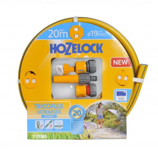 Kit completo tubo flessibile Tricoflex Ultraflex  19 mm 20 m Hozelock