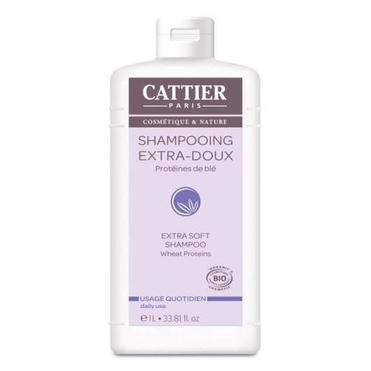 Champú extra suave Cattier , 1 L.