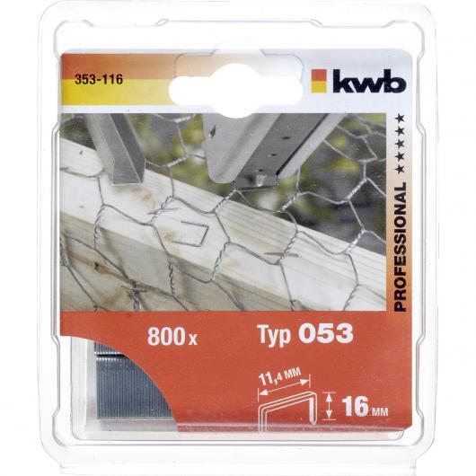 Grapas de acero Kwb