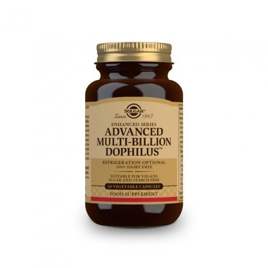 Probiotiques Advanced Multibillion Dophilus Solgar, 60 gélules végétales