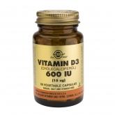 Vitamine D3 600 UI 15 µg Solgar, 60 gélules végétales