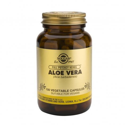 Aloe Vera Solgar, 100 cápsulas vegetales