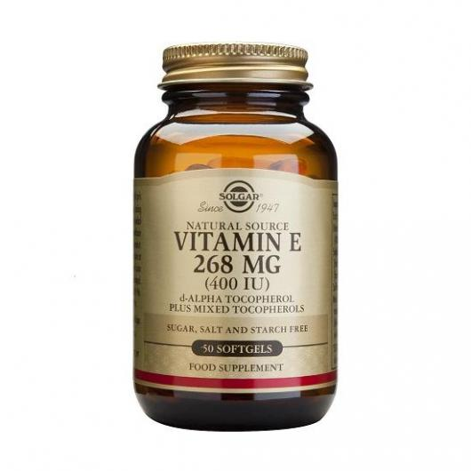 Vitamine E 400 UI Solgar, 100 gélules douces