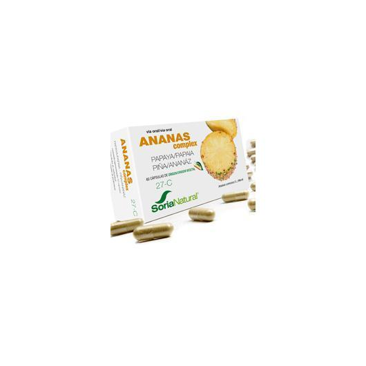 27-C Ananas complex Soria Natural, 60 cápsulas