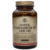 Aceite de borraja 1300 mg Solgar, 60 cápsulas blandas