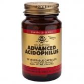 Solgar avançada acidophilus, 50 cápsulas vegetais não lácteos