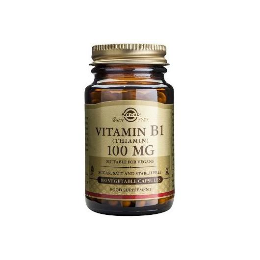 Vitamine B1 100 mg (thiamine) Solgar, 100 comprimés