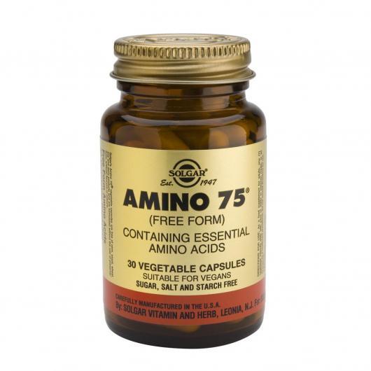 Amino 75 Solgar, 30 cápsulas vegetales