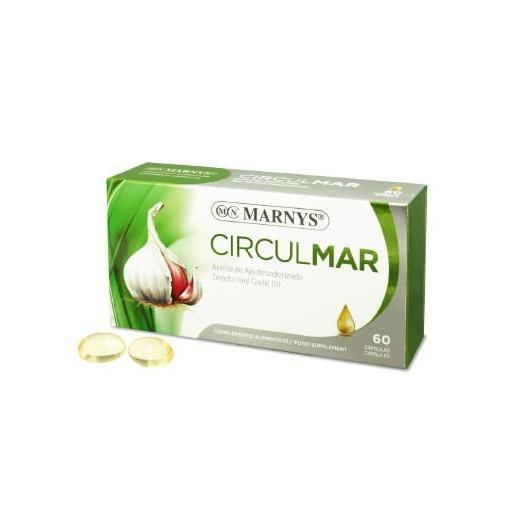 Aceite de Ajo Circulmar 500 mg Marnys, 60 cápsulas