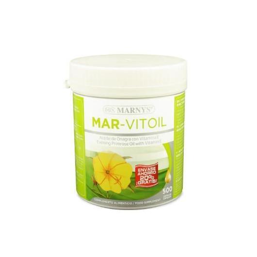 Olio di Onagra Mar-Vitoil 500 mg Marnys, 400+100 capsule