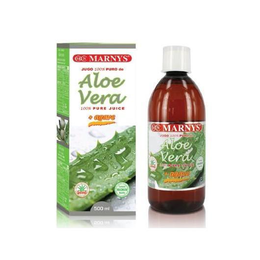 Succo di aloe Vera 100% Puro Marnys, 500 ml