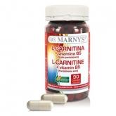 L-carnitina + Vitamina B5 500 mg Marnys, 90 cápsulas