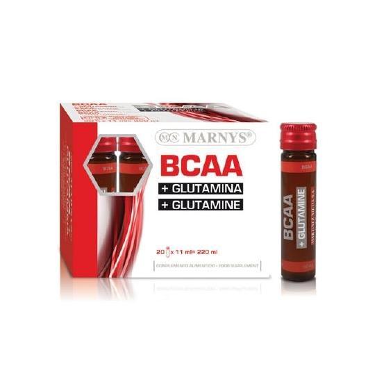 BCAA & Glutamina 11 ml Marnys, 20 viales