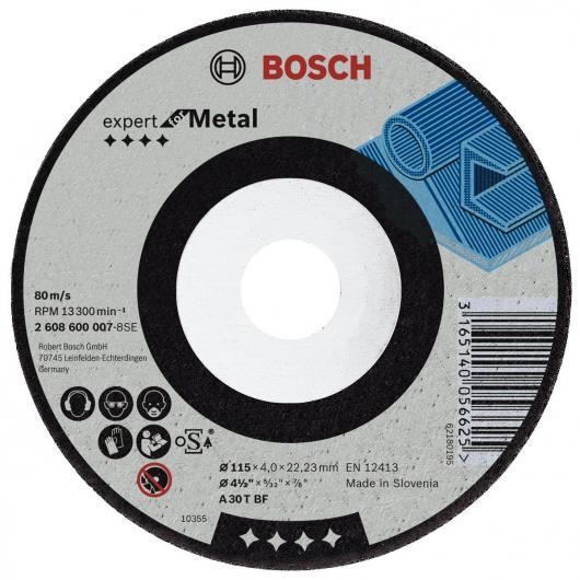 Disco di sgrossatura con centro ribassato per smerigliatrice Bosch 115 mm per metallo