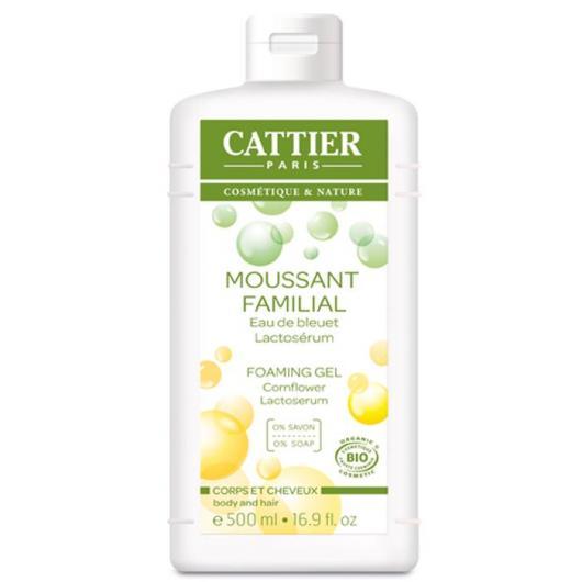 Gel et shampooing moussant familial Cattier, 500 ml