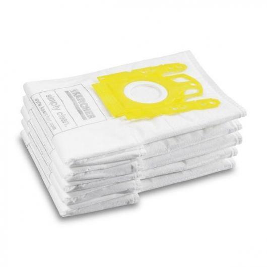Pack de 5 sacs de filtre en textile Karcher pour VC