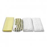 Confezione 4 panni in microfibra Karcher per la pulizia del bagno