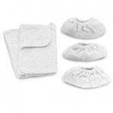 Juego mixto de paños Karcher de tejido de rizo 100% algodón (dos grandes y tres pequeños)