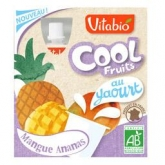 Cool Fruits Mango, Piña y Yogur Vitabio,4 x 85 g