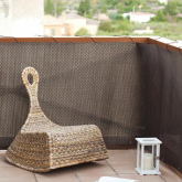 Luxe Brown Rattan rastreados varanda