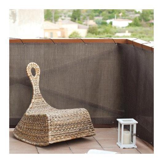 Malla balcón Rattan Luxe marrón