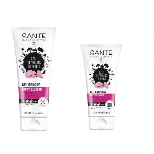 Lozione Happy Blossom Sante, 150 ml + gel doccia Happy Blossom Sante, 200 ml