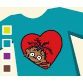 T-shirt CORAZÓN DE CHOCOLATE - Bambino
