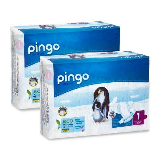Pañales Pingo T1 (recién nacido) 2x27 uds