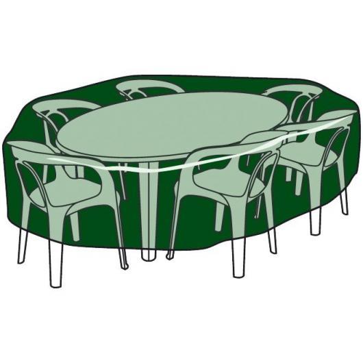 Copertura circolare per tavole e sedie in polietileno