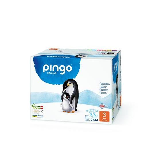 Pañales Pingo T3 (4-9kg) 2x44uds