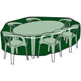Capa circular de poliéster para cobrir mesas e cadeiras