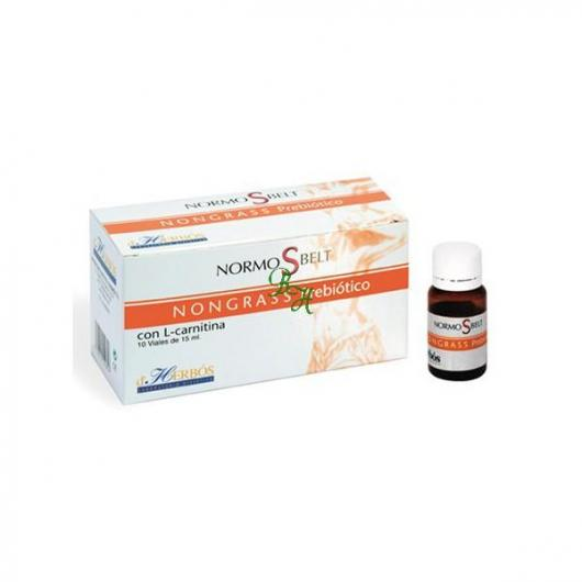 Nongrass Prebiótico Derbós, 10 viales de 15 ml