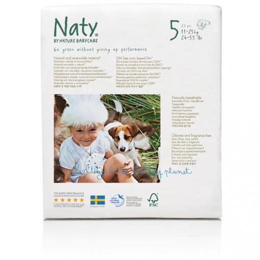 Pañal Nº 5 Naty 11-25 kg, 23 ud