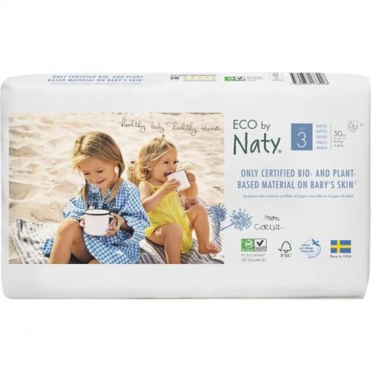 Couches n°3 Naty 4-9 kg, 52 pièces