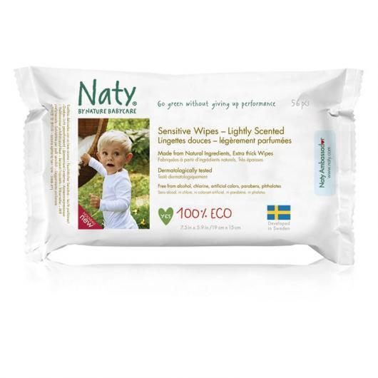 Salviette aromatizzate Naty, 46 unità