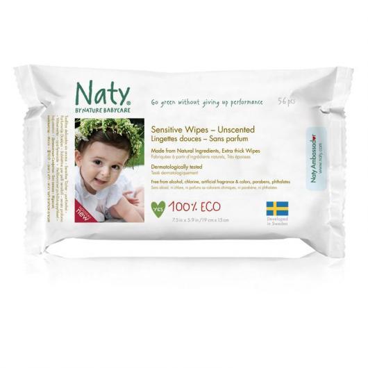 Lingettes sans parfum Naty, 56 pièces