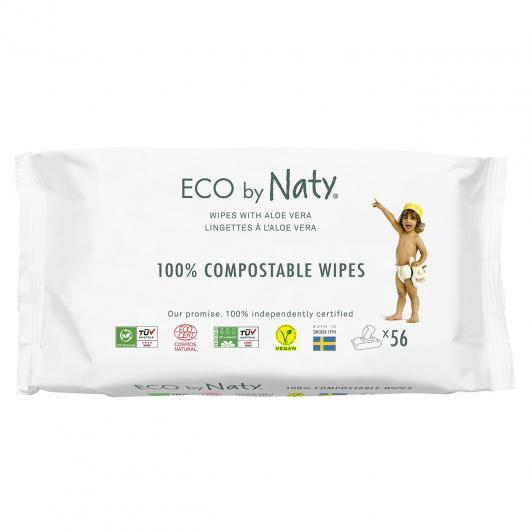 Salviette con Aloe Vera Natry, 56 unità
