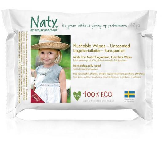 Lingettes Eco Sensitive Naty, 42 pièces