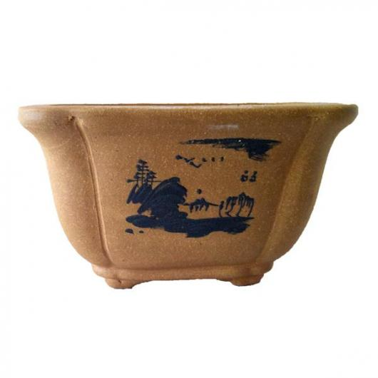 Vaso Xian quadrato Semicascata + piatto