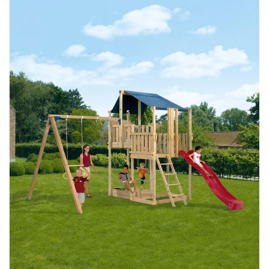 Parque infantil duplex con columpio por en - Columpio infantil jardin ...