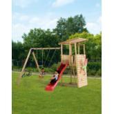Parco bambini Bunker con altalena