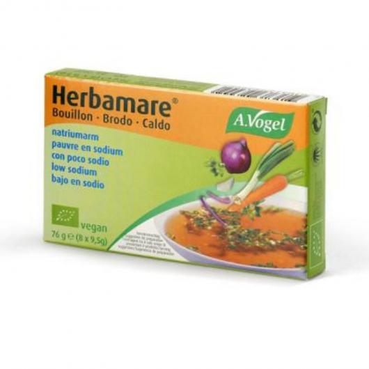 Herbamare caldo vegetal bajo en sodio, 8 cubitos