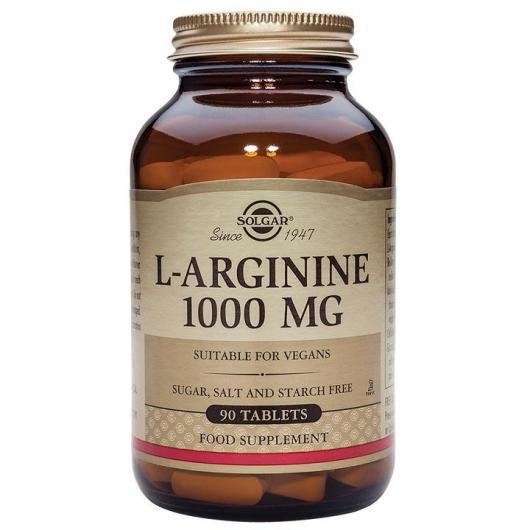 L-Arginina 1000 mg Solgar, 90 tabletas