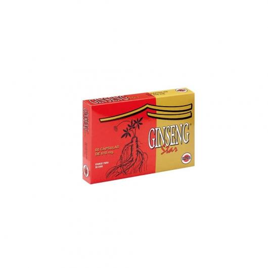 Ginseng Star 610 mg Robis, 60 cápsulas