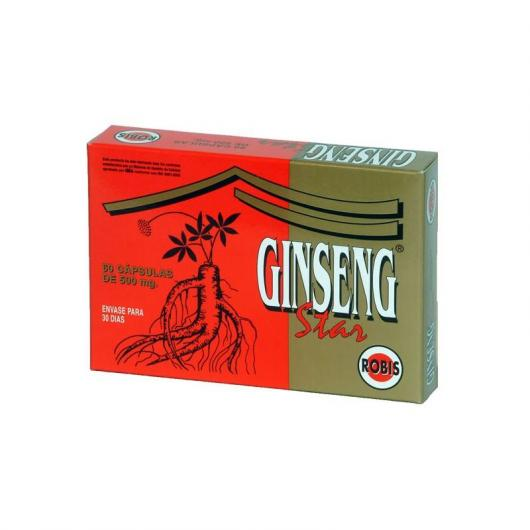Ginseng Star 500 mg Robis, 30 cápsulas