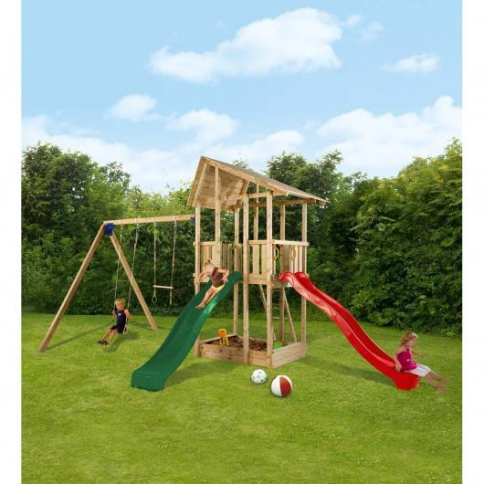 Parco bambini Hangar con altalena