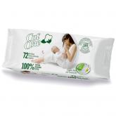 Toalhitas húmidas 100% algodão CotOne  72 uds